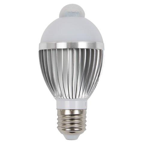 Світлодіодна лампа з ІЧ сенсором руху 5 Вт (холодний білий, 450 лм, Е27) Прев'ю 1