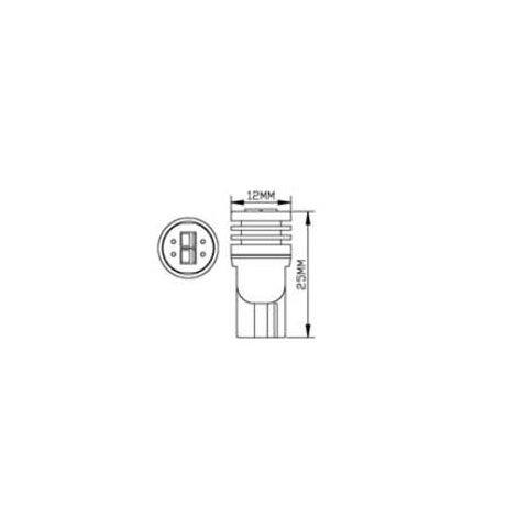Габаритна LED-лампа W5W UP-2G-N2-T10-3030SMD (білий, 12-14 В) Прев'ю 1